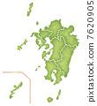 Map of the Kyushu region 7620905