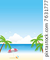 sea summer background Vector 7631777