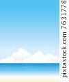 sea summer background Vector 7631778