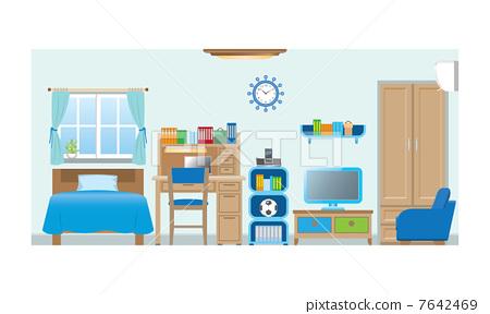 家具 卧室 矢量-图库插图 [7642469] - PIXTA