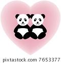 Heart & Panda 7653377