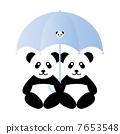 Pandas for an umbrella 7653548