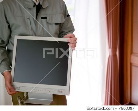 Contractor that carries LCD monitor 7663387
