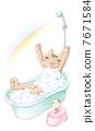 แมวกำลังอาบน้ำ 7671584