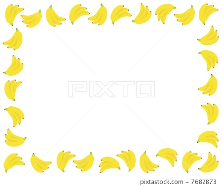 frame, banana, bananas - Stock Illustration [7682873] - PIXTA