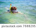 snorkel, snorkeling, sea 7688295