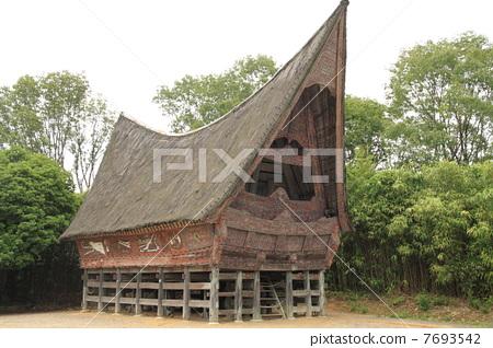 印尼人·巴塔克人的房子 7693542