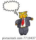 cartoon fat cat businessman 7719437