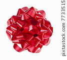 Red Christmas gift bow on white 7733515