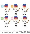 นักเบสบอล,ท่าทาง,ผู้ชาย 7745356
