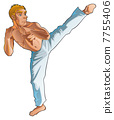 Martial art pose. 7755406