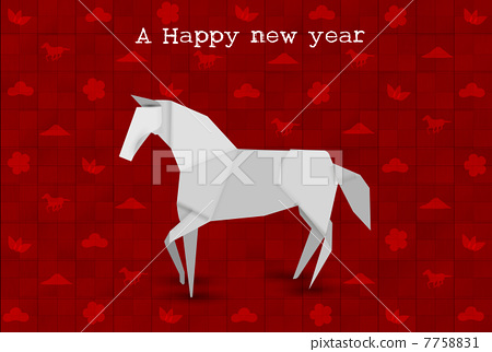 2012 origami postcard Royalty Free Vector Image   322x450