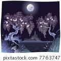 樹木 樹 夜晚 7763747