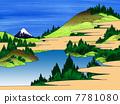 Ukiyoe Azusa Hakone lake water 7781080