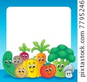 Vegetable theme frame 1 7795246
