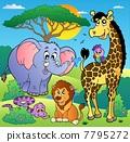 Savannah scenery with animals 2 7795272