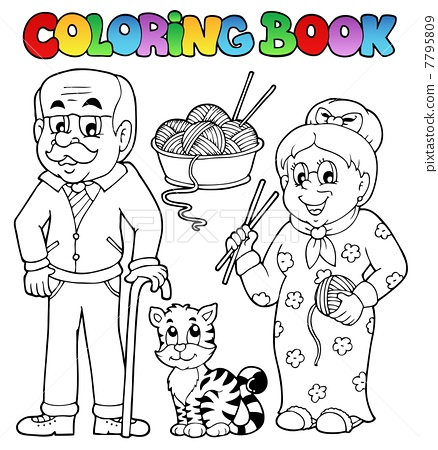 Coloring book family collection 2 7795809
