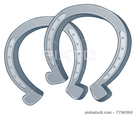 Pair of horse shoes 7796360
