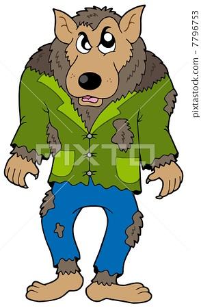 Cartoon werewolf 7796753
