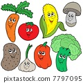 Cartoon vegetable collection 1 7797095