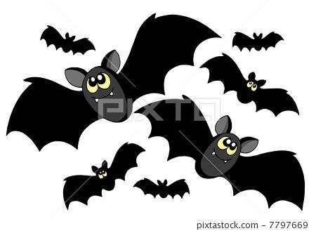 Bats silhouettes 7797669