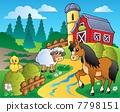 農場 馬兒 鳥兒 7798151