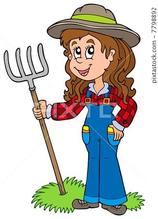 Cute farm girl 7798892
