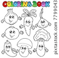 Coloring book with vegetables 7799043
