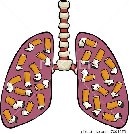 Human lung ashtray 7801273