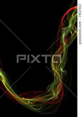 abstract colorful smoke waves 7802502