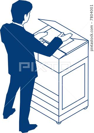 Businessman taking a copy 7804001