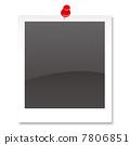 Polaroid photo and push pin 7806851