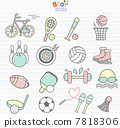 illustration of icons related to sports 7818306