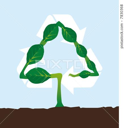 Natural plant recycling symbol 7830368