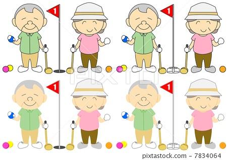 Senior golf 7834064