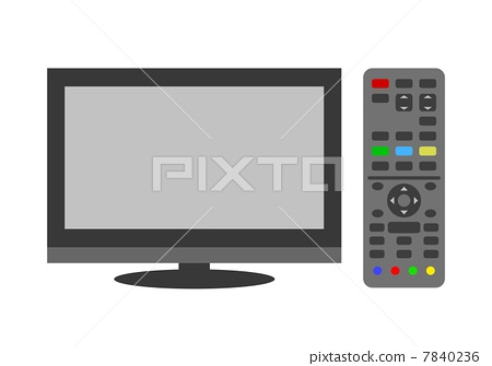 TV and remote control 7840236