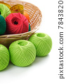 yarns for knitting in the basket 7843820