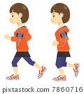 女性 - 慢跑 - 智能手機 7860716