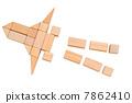 장난감, 적목, 우주선 7862410