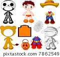 Boy with costumes  for Halloween Party 7862549