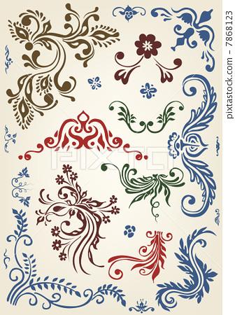 Ornament floral vector elements 7868123