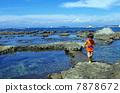 子供と名島(菜島)の風景 7878672