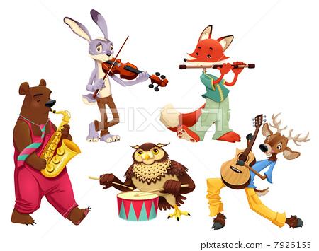 Musician animals. 7926155