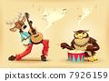 音樂 樂譜 動物 7926159