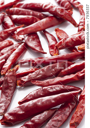 Background of dried peppers 7936337
