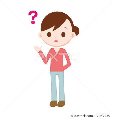 질문하는 여성 7947239