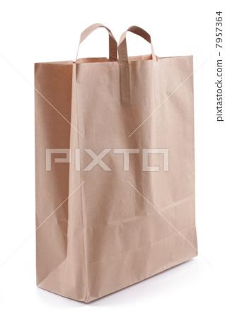 paper bag, over white 7957364