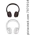 headphone, vector, vectors 7970914