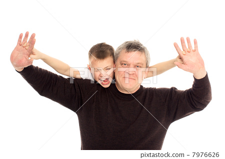 Grandfather and Grandson 7976626