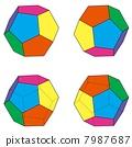 常規十二面體集的四種模式 7987687